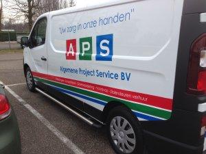 Autobelettering bestelbus APS