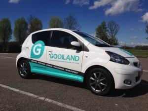 Autobelettering personenauto Gooiland