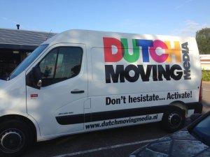 Autobelettering Bestelwagen Dutch Moving Media