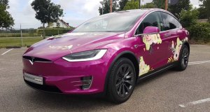Carwrapping Tesla Model X