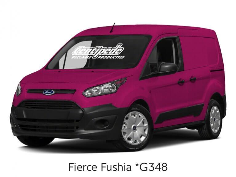 Carwrapping bestelauto voorbeeldfoto Fierce Fushia
