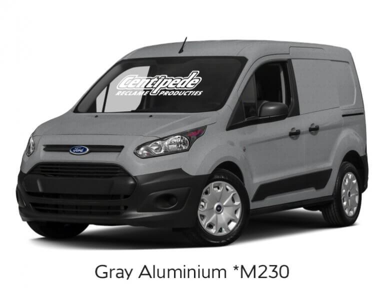 Carwrapping bestelauto voorbeeldfoto Gray Aluminium