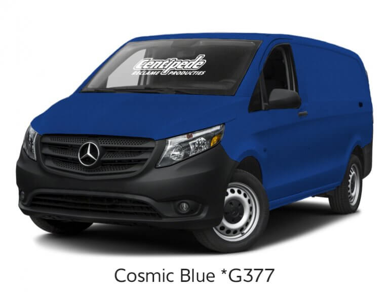 Carwrapping bestelbus voorbeeldfoto Cosmic Blue