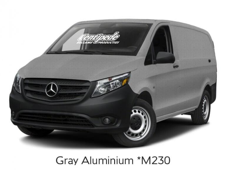 Carwrapping bestelbus voorbeeldfoto Gray Aluminium