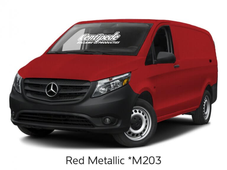 Carwrapping bestelbus voorbeeldfoto Red Metallic