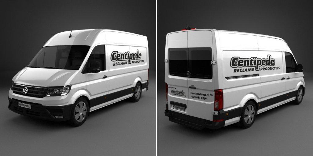 Voorbeeldfoto's Autobelettering Bestelwagen Basic