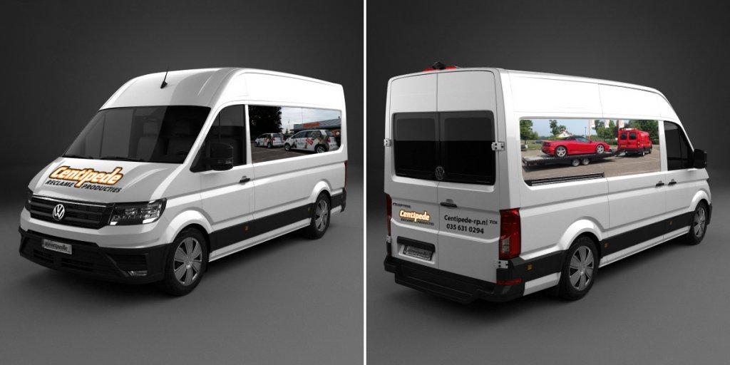 Voorbeeldfoto's Autobelettering Bestelwagen XL