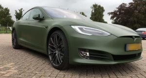 Carwrapping Tesla Model S