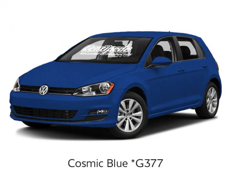 Carwrapping personenauto voorbeeldfoto Cosmic Blue
