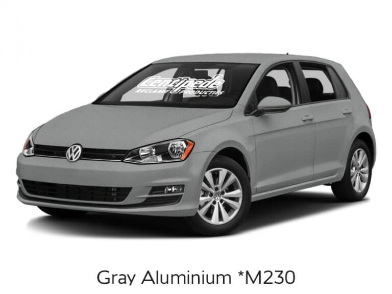 Carwrapping personenauto voorbeeldfoto Grey Aluminium