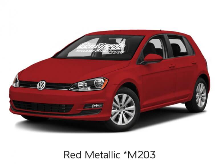 Carwrapping personenauto voorbeeldfoto Red Metallic